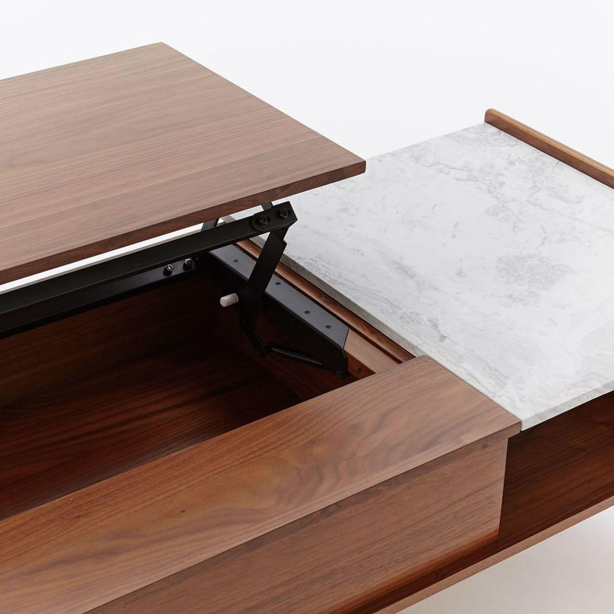 Midcentury popup storage coffee table coffee table