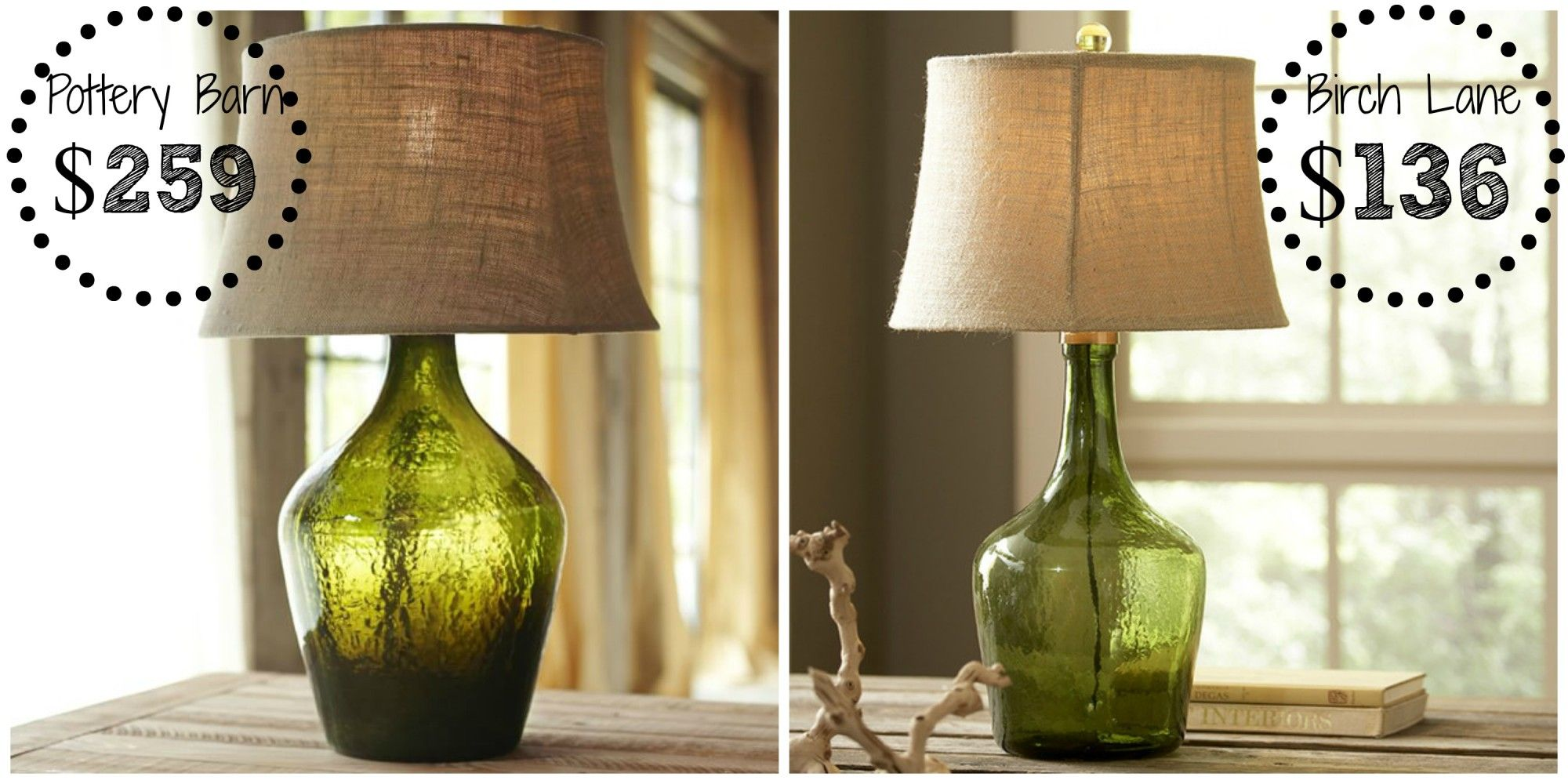 Pottery Barn Clift Glass Table Lamp Pottery Barn Table Lamp