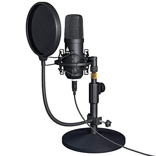 Usb Microphone Kit Maono Pc Condenser Podcast Streaming Cardioid Mic Plug Sale Instrumentstogo Com Usb Microphone Microphone Microphones