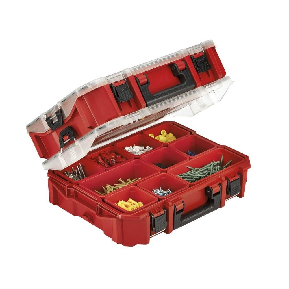 5 Compartment Small Parts Organizer MILWAUKEE ELEC TOOL Milwaukee Electric Tool 48-22-8435 Pack out