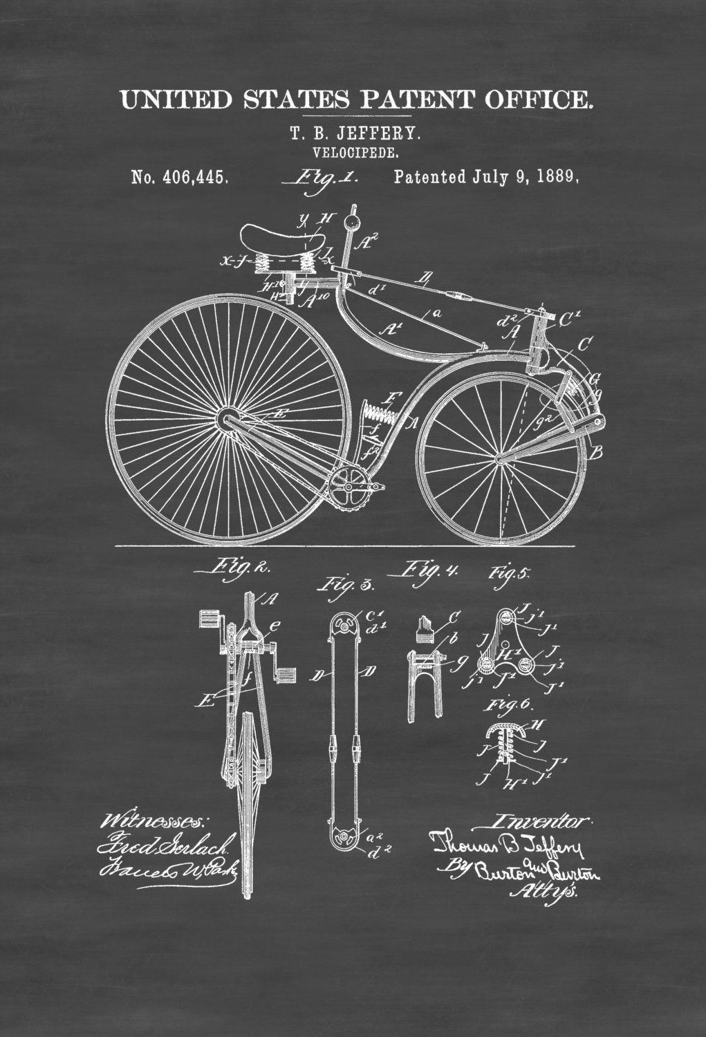 Velocipede patent 1889 bicycle decor vintage bicycle bicycle velocipede patent 1889 bicycle decor vintage bicycle bicycle blueprint bicycle art cyclist gift bicycling enthusiasts malvernweather Images