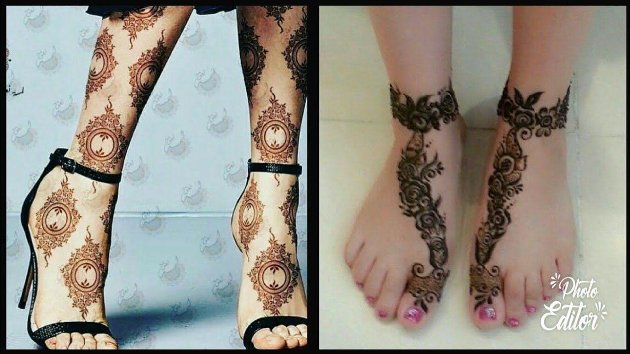 latest foot mehndi design
