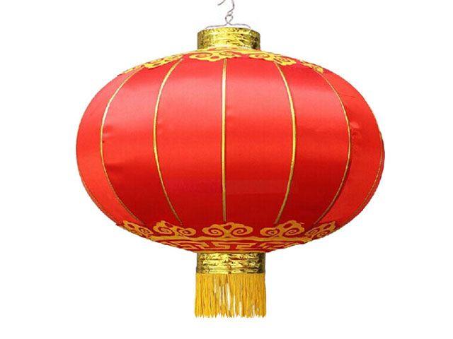 Pearl River eMart - Chinese Red Satin Lantern