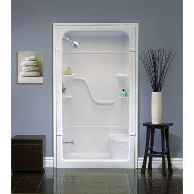 Mirolin 50-in W x 34-1/4-in L Mirolin White Alcove Shower Kit at ...