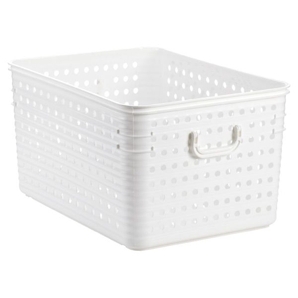 Tall Plastic Laundry Basket Delectable Jumbo Dot Basket Length Is Good A Little Narrow And Short For Inspiration Design