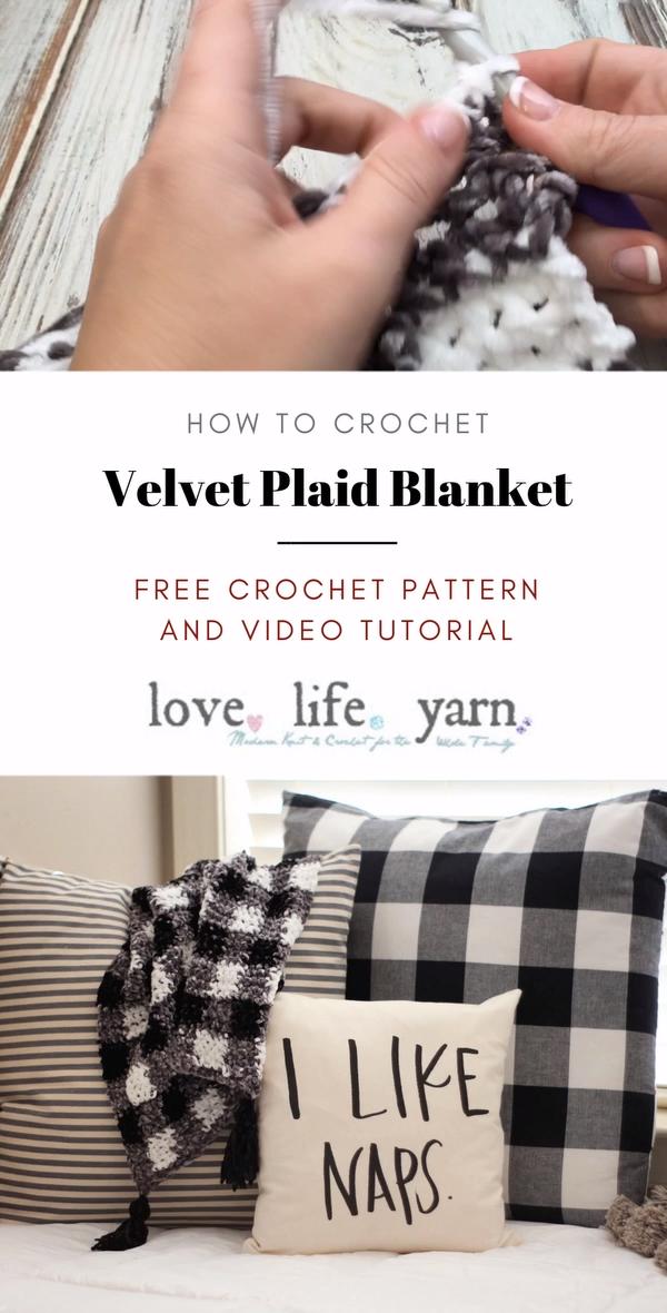 Photo of Velvet Plaid Blanket – Free Crochet Pattern