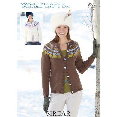 Cardigan in Sirdar Wash 'n' Wear Double Crepe DK - 9633
