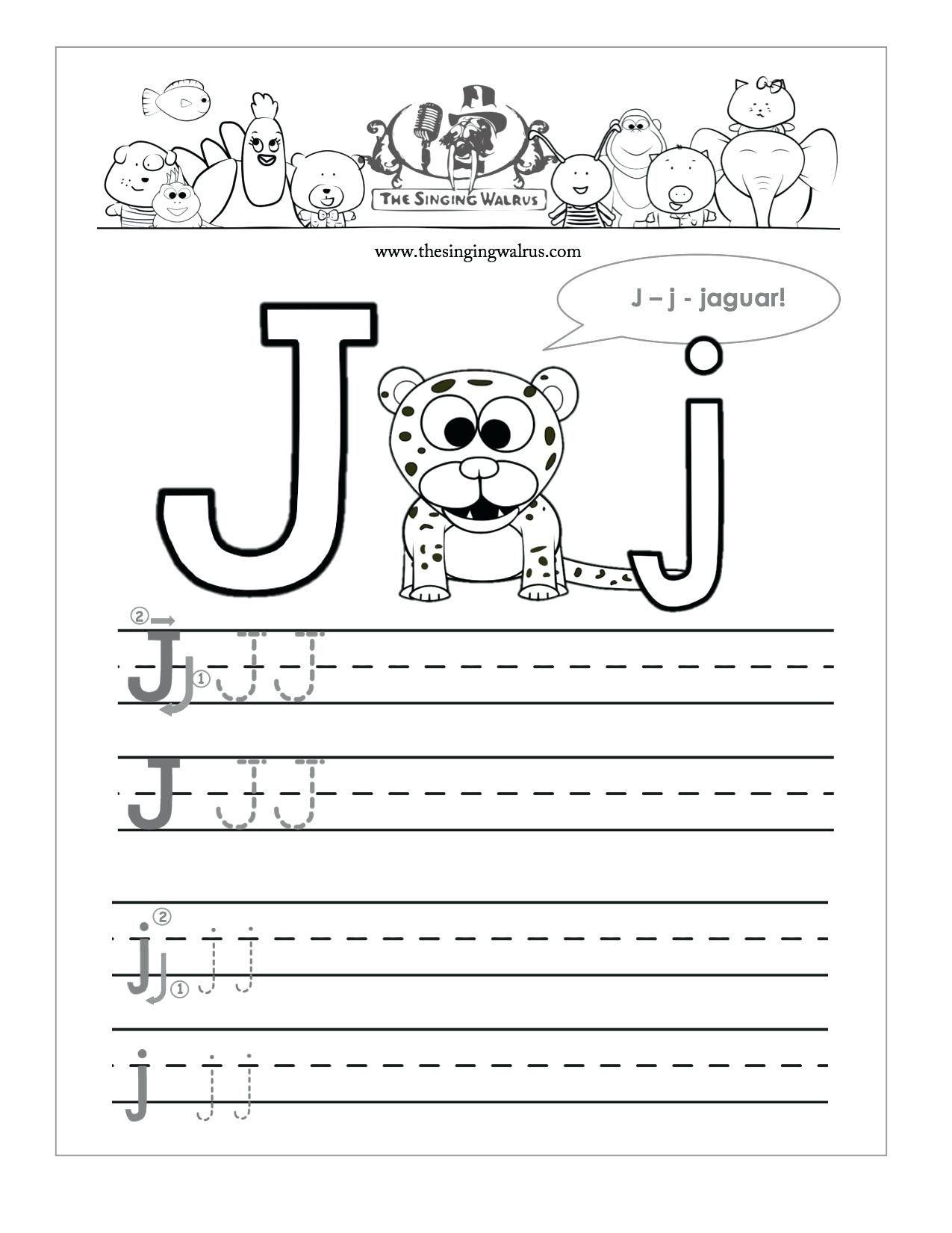 Letter J Worksheets For Kindergarten