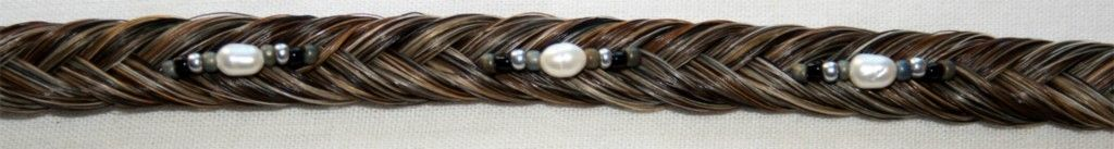 Brown Horse Hair Bracelet with White Black and Gray Colored Beading | eBay