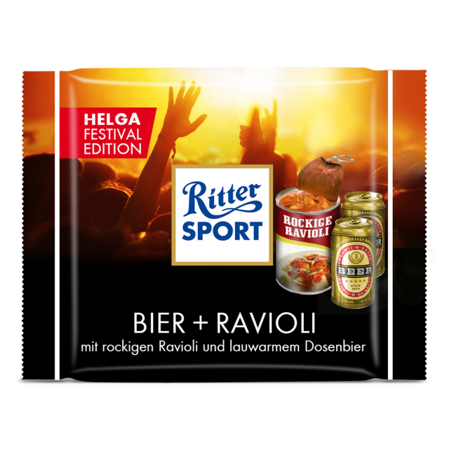 Photo of Fake-Black Beer + Ravioli – RITTER SPORT Blog
