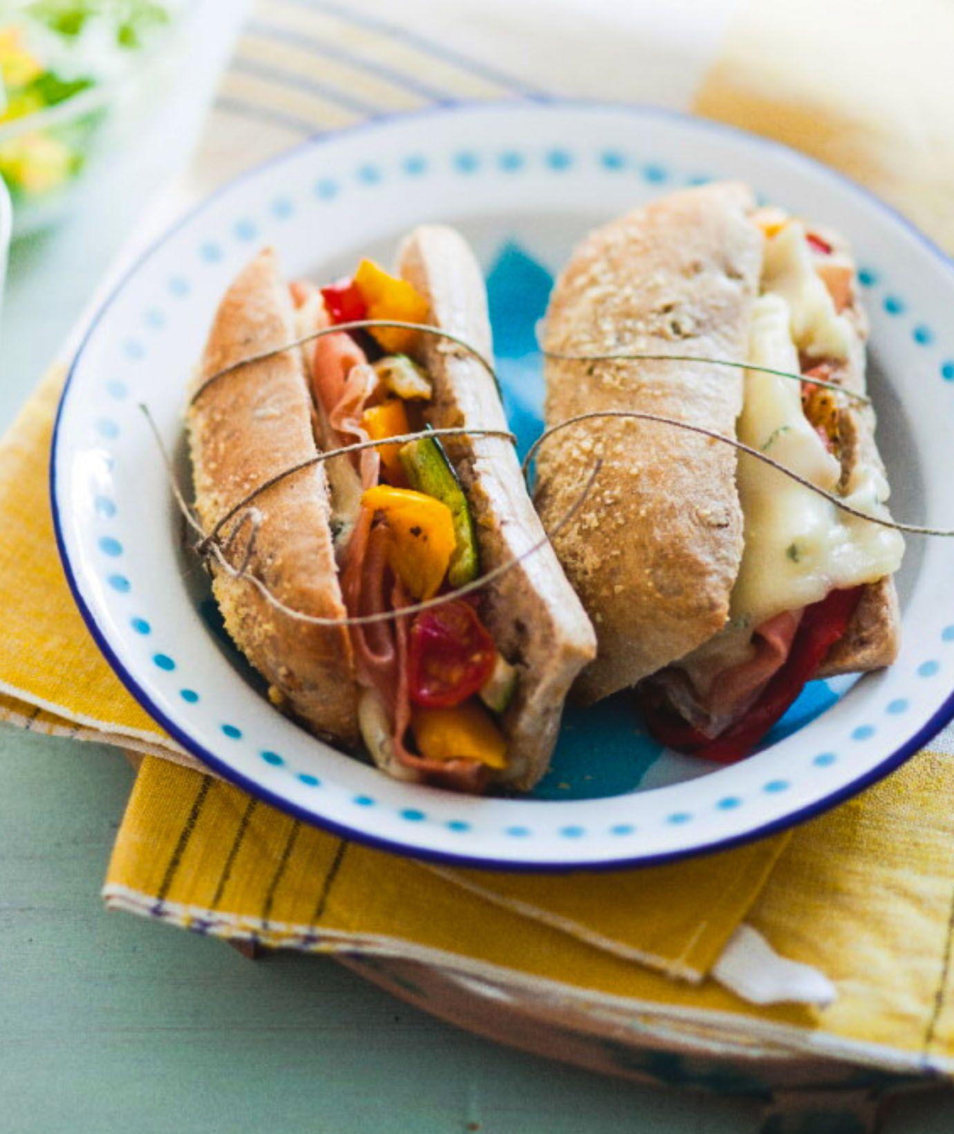 recette sandwich chaud aux noix, gorgonzola et légumes grillés