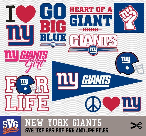 New York Giants Svg Logos Monogram Silhouette Cricut