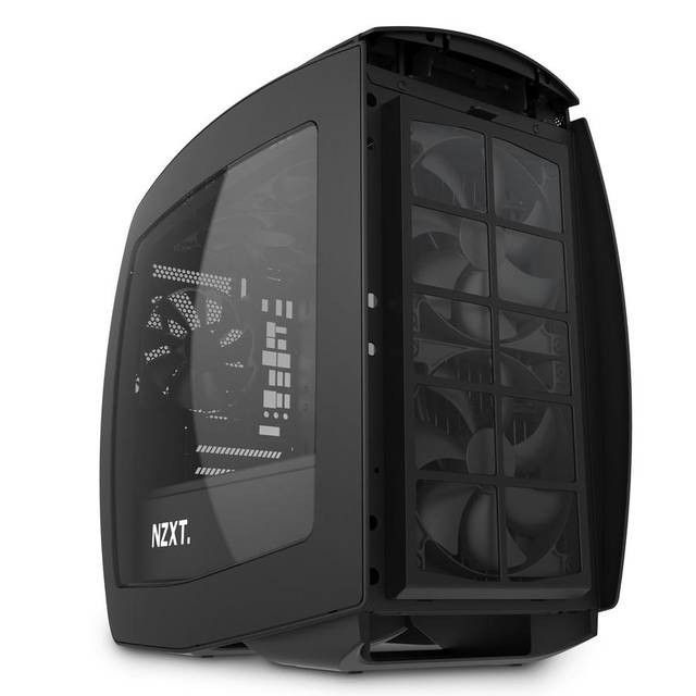 Matte Black NZXT H200 No Power Supply Mini-ITX Case