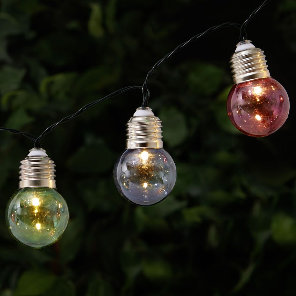 Wilko Garden String Lights 50 Glass Bulb