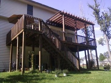 Add Pergola To Existing Deck Design Ideas Pictures Remodel And Decor Backyard Patio Pergola Deck With Pergola