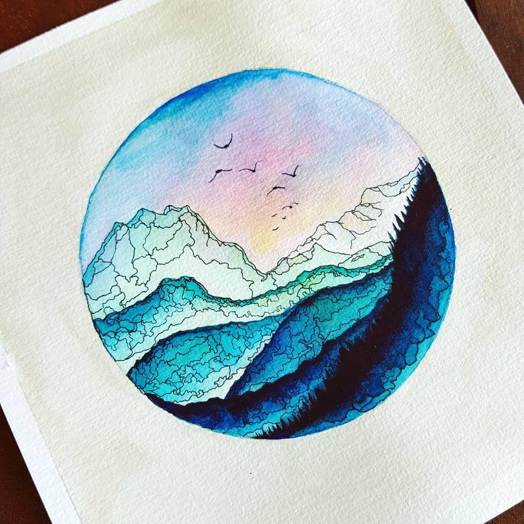 Mountains Landscape Mountainart Instaart Colors Creative Pen