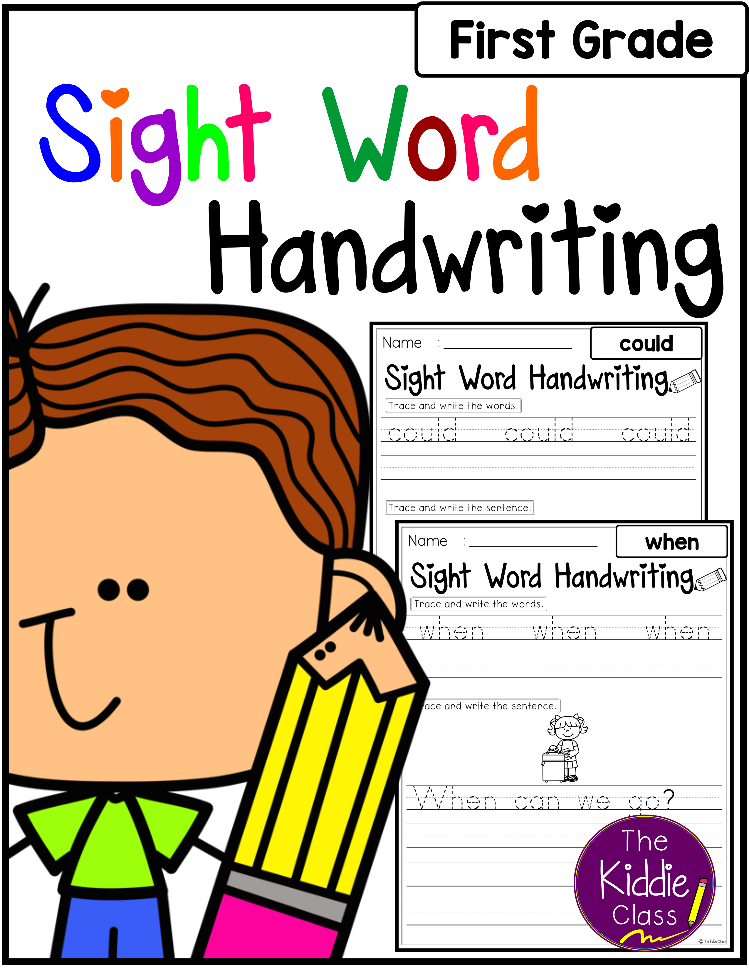 Sight Words Handwriting First Grade