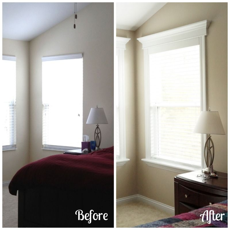 Crown Molding In Bedroom: How To Install Your Own Window Trim