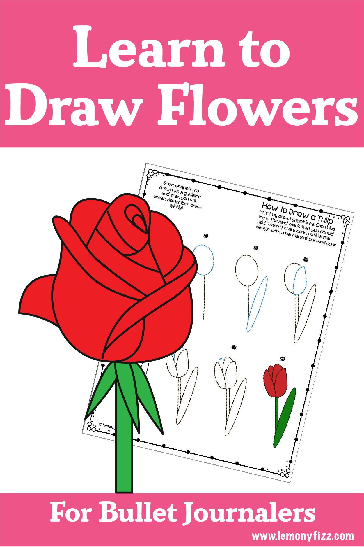 Easy How To Draw A Rose Step By Step Tutorial Flower Step By Step Flower Drawing Easy Drawings