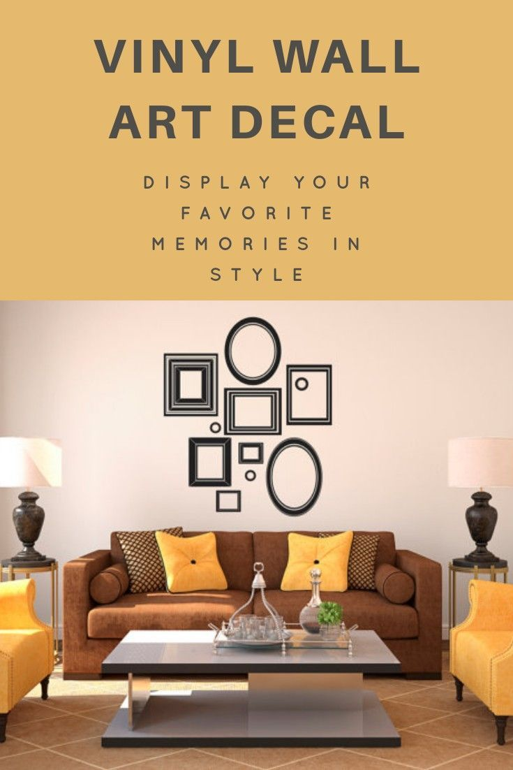 Vinyl Wall Art Decal Custom Stickers - Picture Frames Collage ...