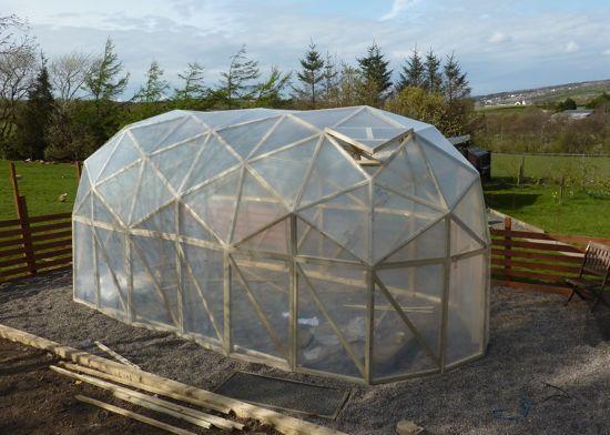 Geodesic tunnel habitat for Geodesic greenhouse plans free