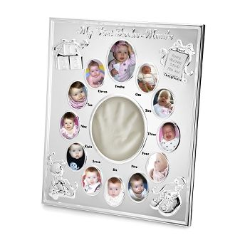 Our Silver Plated 12 Month Baby Frame Is The Quintessential Baby