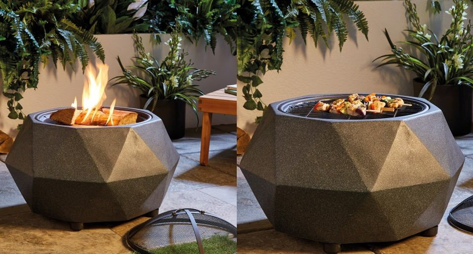 Aldi Releases New Fire Pit That Transforms Into Bbq Grill For The Extremely Reasonable Price Of 65 Bucks Fire Pit Garden Fire Pit Bbq Pit