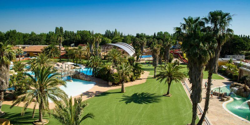 camping La Sirene in Languedoc-Roussillon in #frankreich am #meer - camping a marseillanplage avec piscine