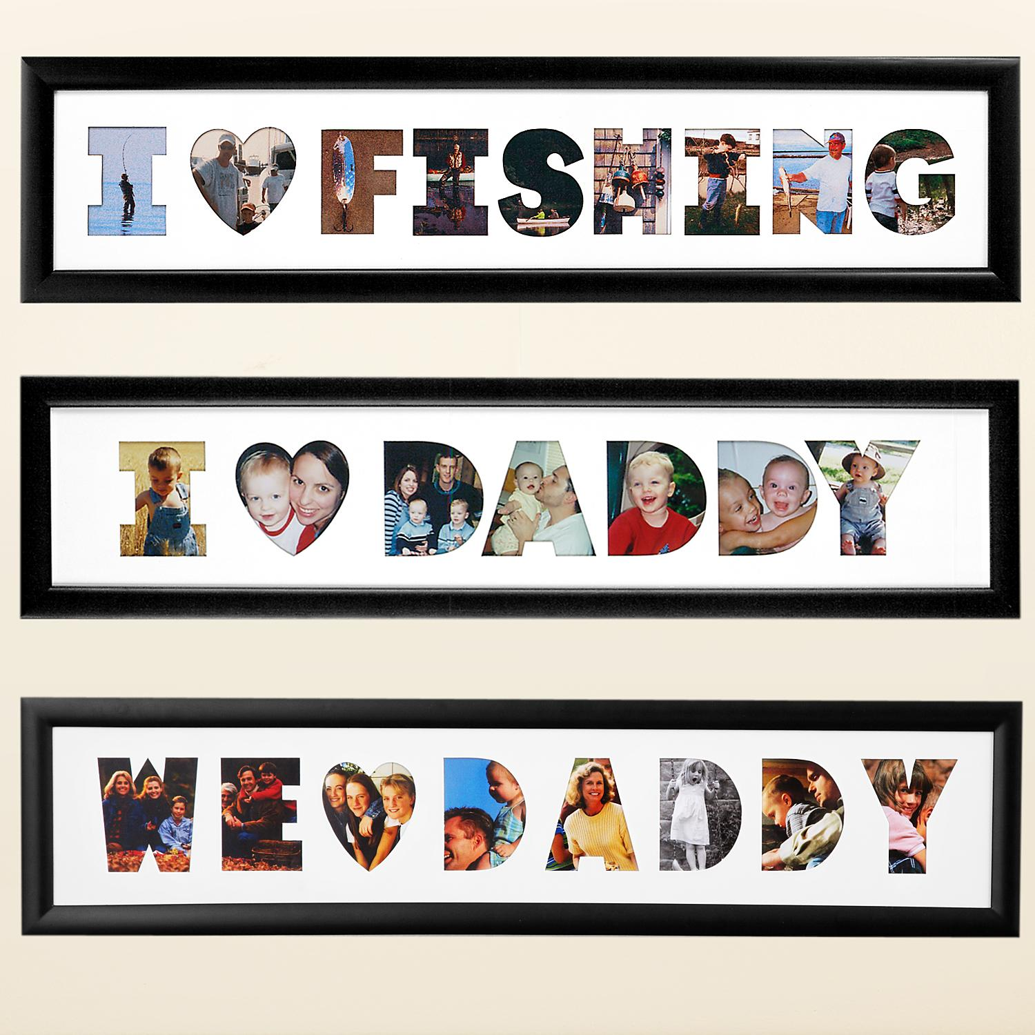 Personalized We Heart Daddy Frame Collage - Horizontal - Personal ...