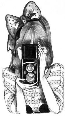 Girl With Camera Illustration Time To Paint Desenhos Tumblr