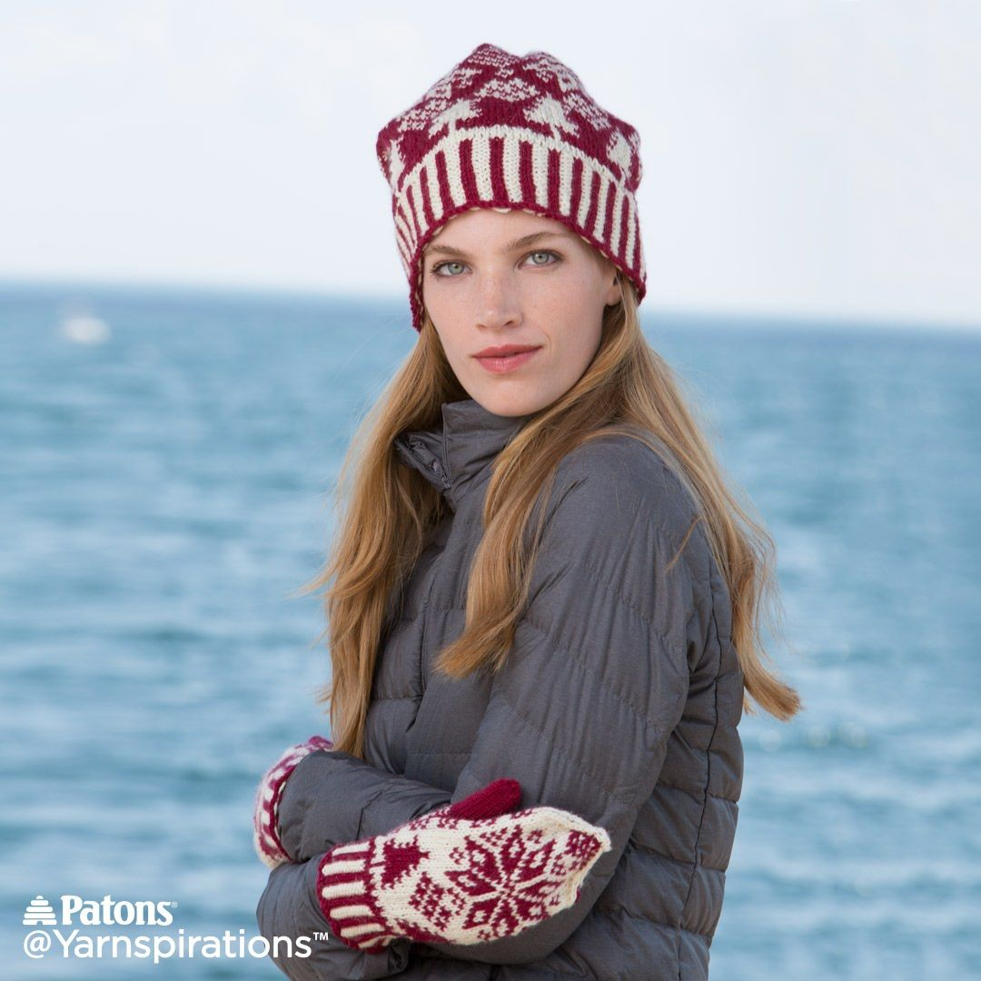 Northern Fair Isle Knit Hat and Mittens | Free Pattern ...