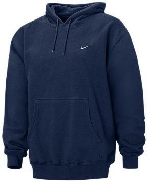 Mens Navy Pullover Fleece Hooded Lined Hoodie Embroidered Nike dthQCsxr