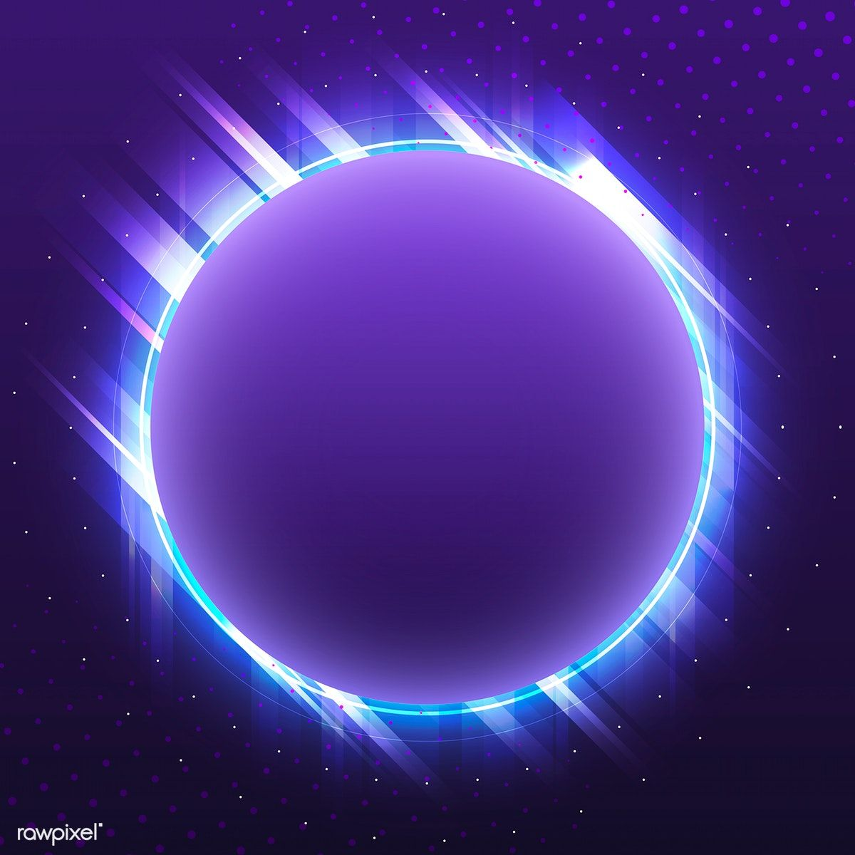 Blank violet circle neon signboard vector free image by