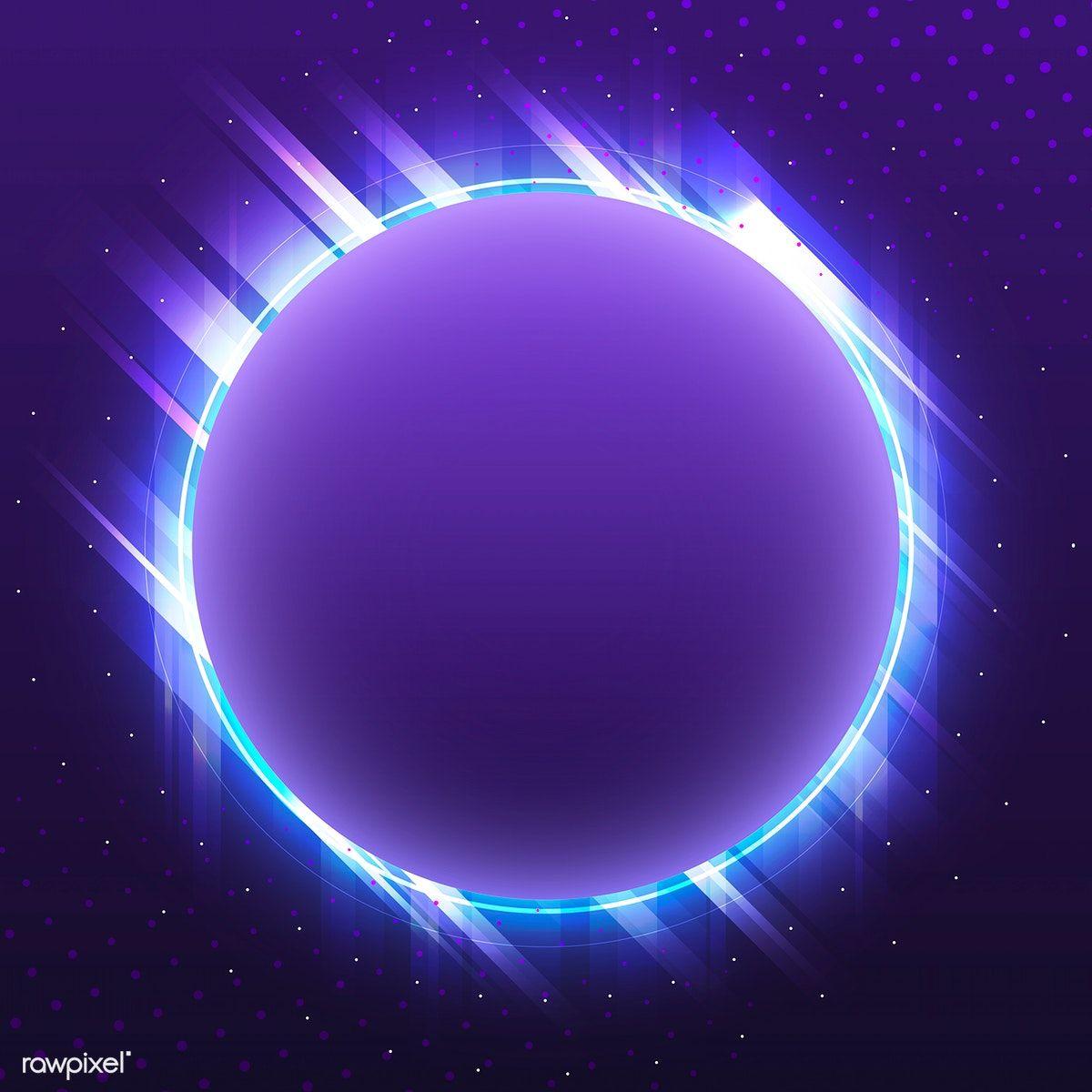 Download Premium Vector Of Blank Violet Circle Neon Signboard Vector 535233 Neon Wallpaper Poster Background Design Planets Wallpaper