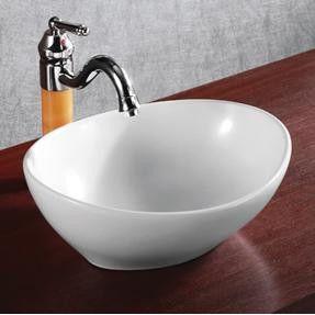 Ceramic Oval Vessel Bathroom Sink In 2020 White Vessel Sink