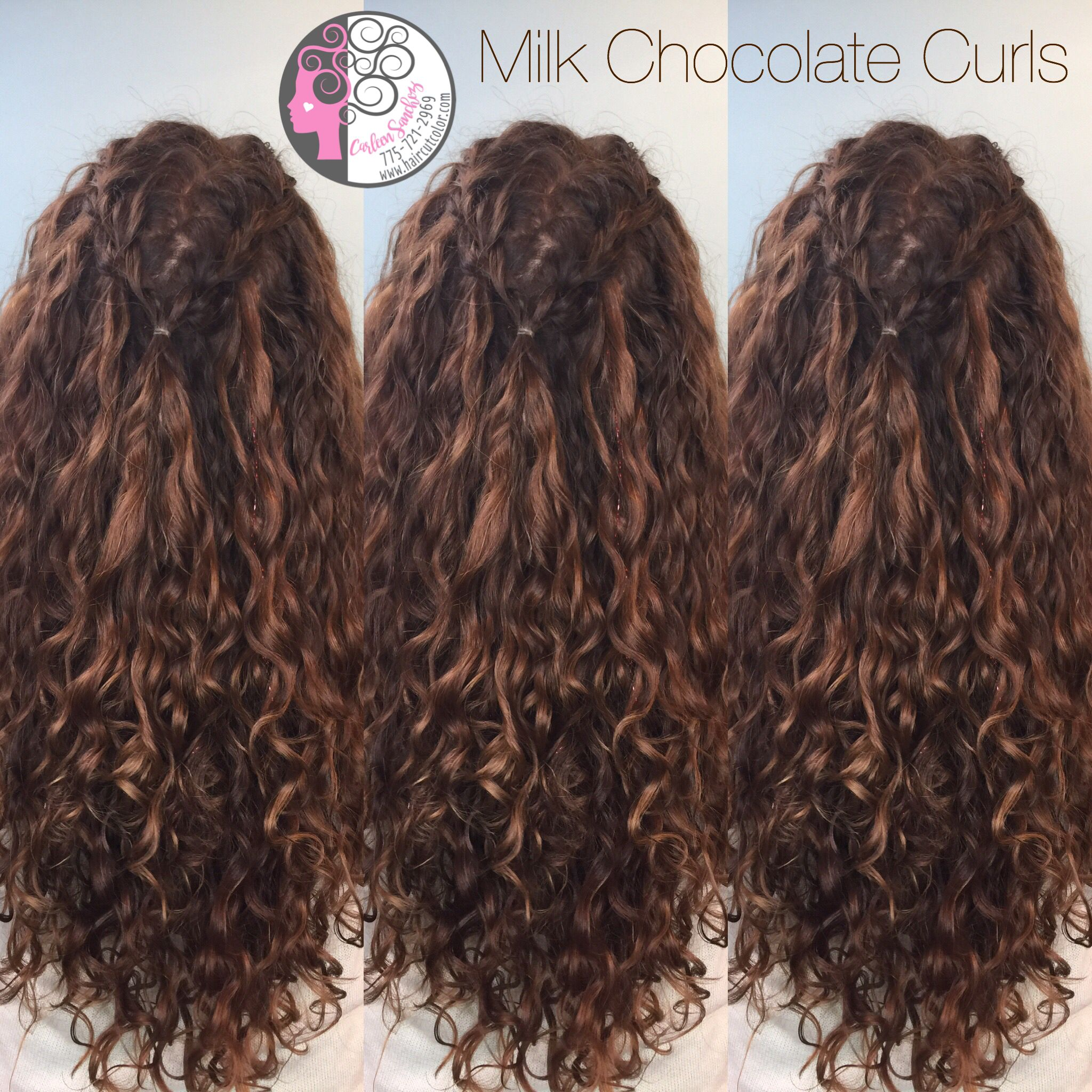 Chocolate Balayage On Naturally Curly Hair By Carleen Sanchez Nevada S Curl Expert Www Haircut Curly Hair Styles Curly Hair Styles Naturally Colored Curly Hair