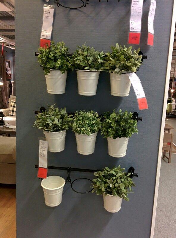 Mur de plantes (Ikea) in 2019 | Wall herb garden indoor ...