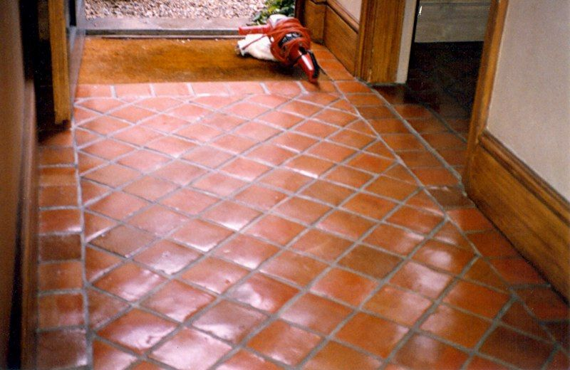Love This Terra Cotta Tile Foyer Floor   Would Be Great In A Mud Room :