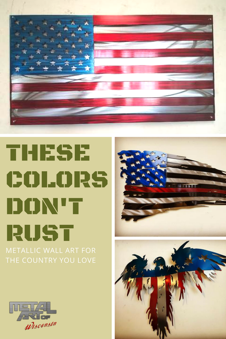 These colors don\'t rust. Shop the perfect metal art work for your ...