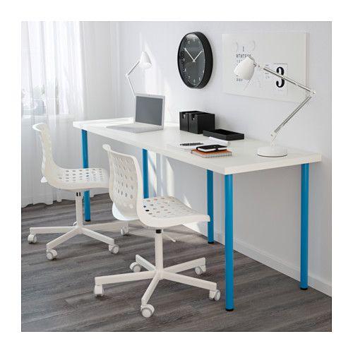Table LINNMON / ADILS white, blue | Teaching Tools | Ikea