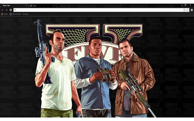 Free GTA 5 Google Chrome Theme Chrome web, Google chrome