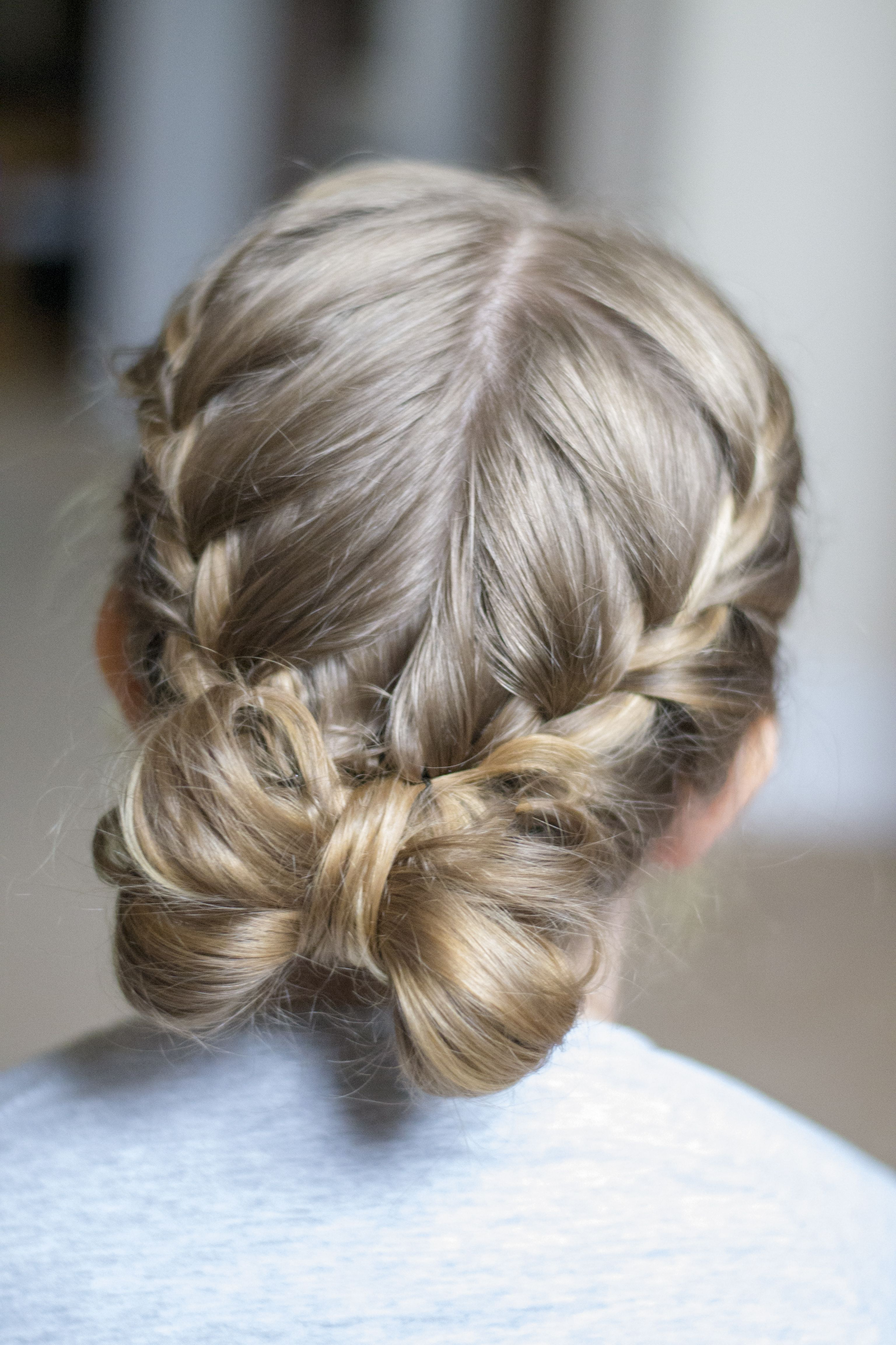 Flower girl hair styles, simple and pretty, french braid into a bow. | Flower girl hairstyles ...