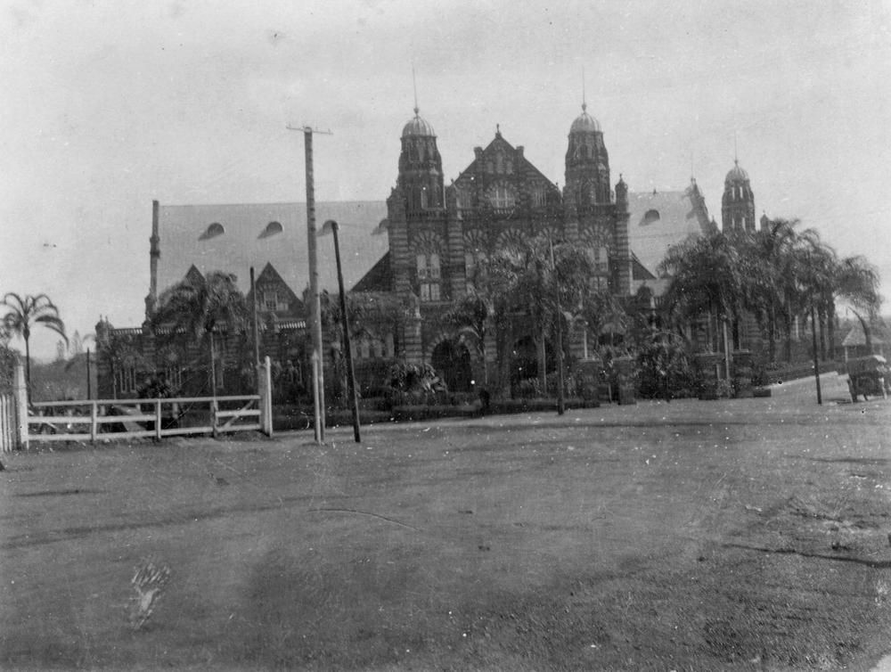 1924 photo of the old Queensland Museum at Bowen Hills ...