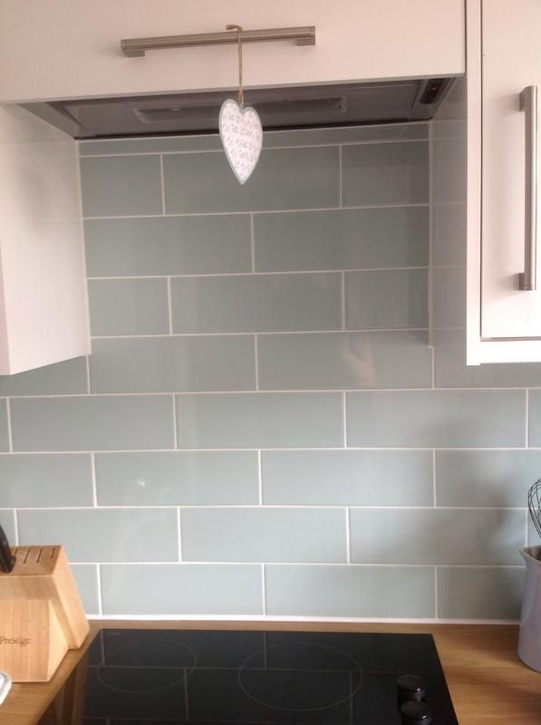 Review Photo 1 In 2019 Duck Egg Blue Kitchen Walls