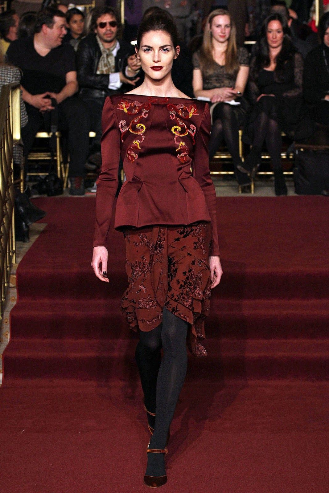 Daring & Delightful Punch of Contrasts in Textures and Color, Zac Posen F/W 2013-2014.