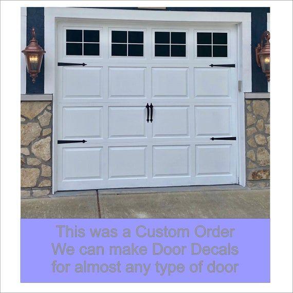 Craftsman Style Faux Garage Door Windows Vinyl Decals No Etsy In 2020 Faux Garage Door Windows Garage Door Windows Garage Door Design