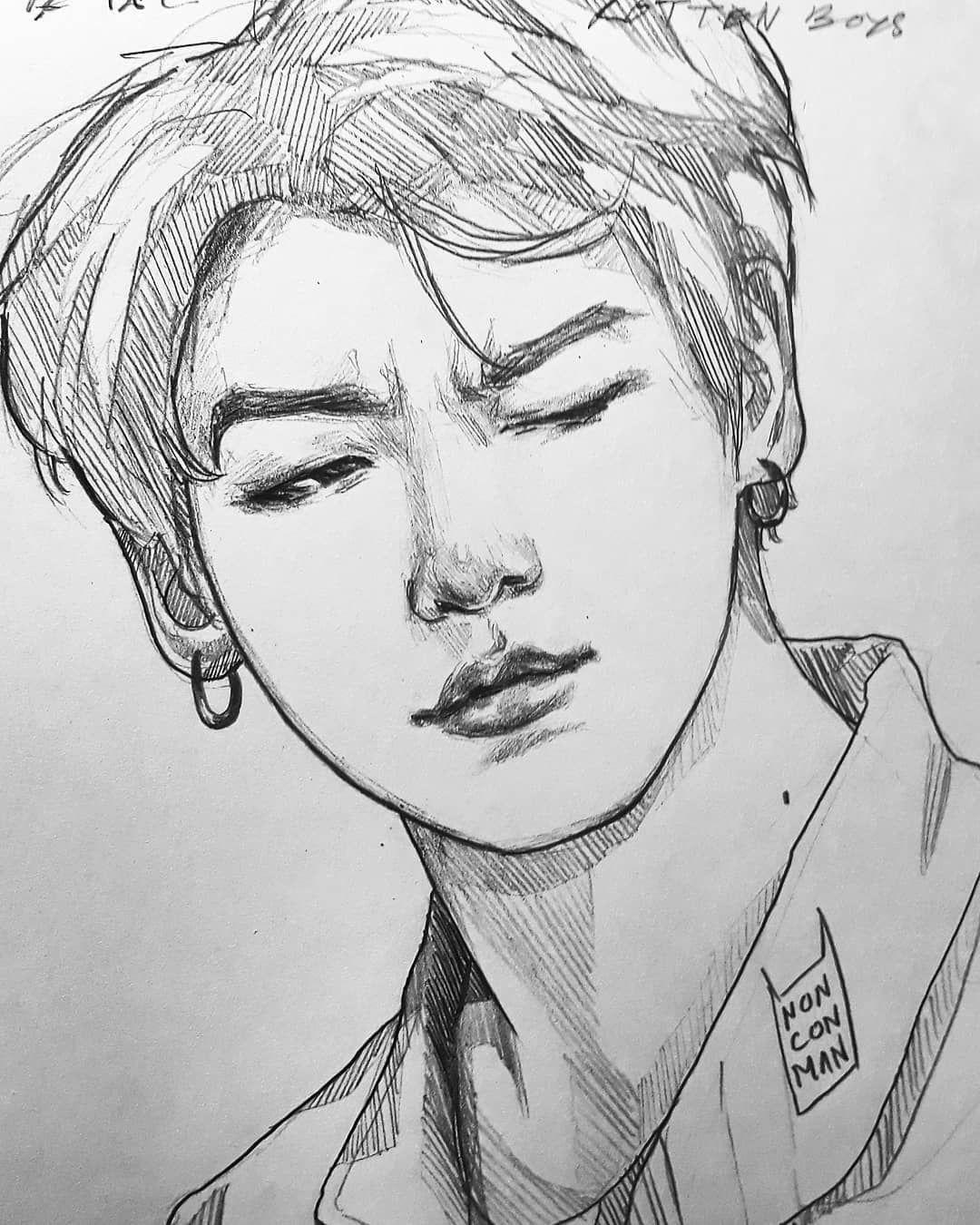 Easy Drawing Kpop Suga By Ayaaa Chan On Deviantart