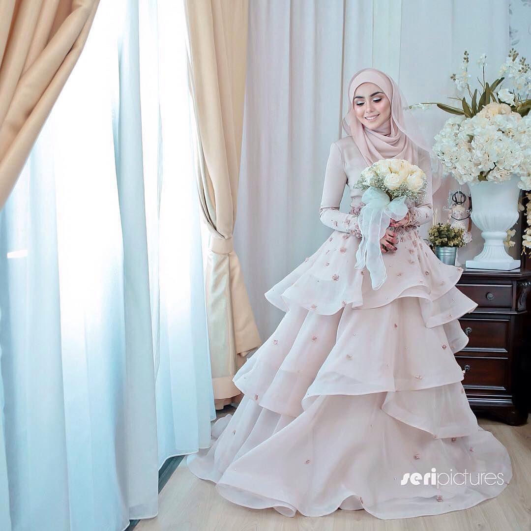 Inspired by @aliaaaismail | Muslim Bridal Hijab(Niqab)~Bridesmaids ...