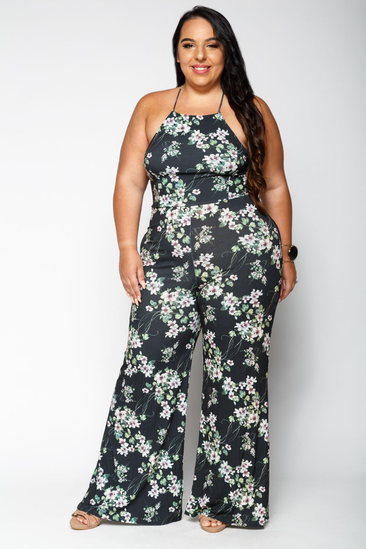 180cb2e0292 Xehar Curvy Womens Plus Size Outfits - Liz Sexy Floral Jumpsuit ...