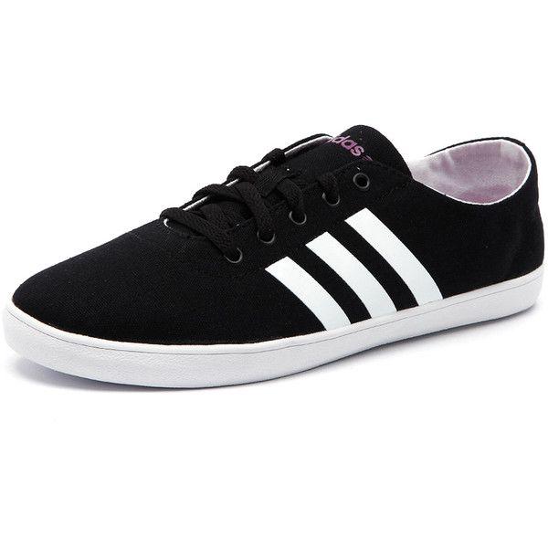 Adidas Neo Women's Qt Vulc Vs Black/White/Pink ($37) ❤ liked on ...